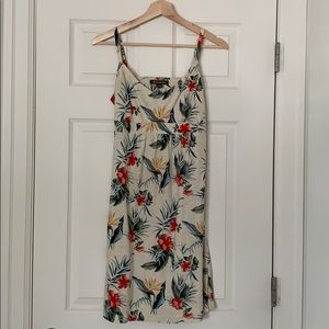 Tropical Summer Dress with open back